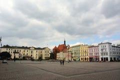 Sikt av den Stary Rynek fyrkanten i Bydgoszcz, Polen Arkivbild