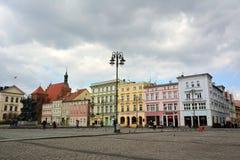 Sikt av den Stary Rynek fyrkanten i Bydgoszcz, Polen Royaltyfri Fotografi
