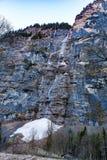 Sikt av den Staubbach vattenfallet Royaltyfri Bild