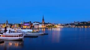 Sikt av den Stockholm staden Royaltyfri Fotografi