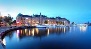 Sikt av den Stockholm staden Fotografering för Bildbyråer