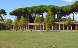 Sikt av den stora palaestraen Arkivbild