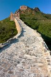 Sikt av den stora väggen av Kina Fotografering för Bildbyråer