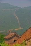 Sikt av den stora väggen på Mutianyu Royaltyfri Foto