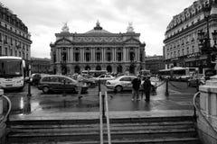 Sikt av den storslagna operan i Paris 12 Augusti, 2006 Fotografering för Bildbyråer