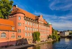 Sikt av den Strasbourg stadsmitten Arkivbilder