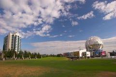 Sikt av den Telus världen av vetenskap Vancouver F. KR. fotografering för bildbyråer