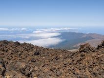 Sikt av den Tenerife ön från den Teide vulkan fotografering för bildbyråer