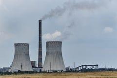 sikt av den termiska kraftverket royaltyfri foto