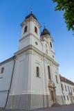 Sikt av den Tihany abbotskloster på sjön Balaton i Ungern Royaltyfri Bild