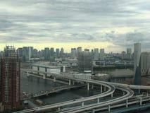 Sikt av den tokyo staden Royaltyfri Bild