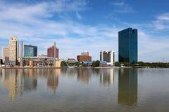 Sikt av den Toledo horisonten Arkivfoto