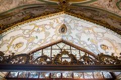 Sikt av den Topkapi slotten i Istanbul, Turkiet royaltyfria foton