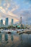Sikt av den Toronto hamnframdelen Royaltyfri Bild