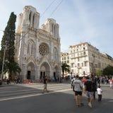 Sikt av den trevliga staden, Frankrike Royaltyfria Foton