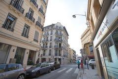 Sikt av den trevliga staden, Frankrike Royaltyfri Bild