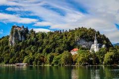 Sikt av den Triglav nationalparken Slovenien Royaltyfri Bild