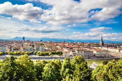 Sikt av den Turin staden mitt-Turin, Italien Royaltyfria Foton