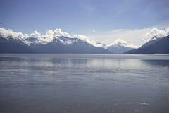 Sikt av den Turnagain armen Alaska arkivbild