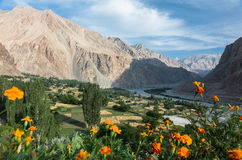 Sikt av den Turtuk byn - Ladakh, Indien fotografering för bildbyråer