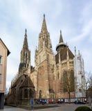 Sikt av den Ulm domkyrkan - Tyskland, Baden-Wurttemberg Arkivbild