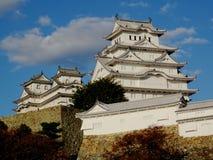 Sikt av den underbara Himeji slotten i Japan royaltyfria bilder