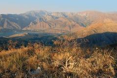 Sikt av den västra Tien Shan Royaltyfri Bild