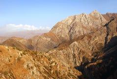 Sikt av den västra Tien Shan Arkivbilder