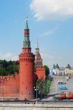 Sikt av den Vasilevsky nedstigningen i Moskva Arkivbilder