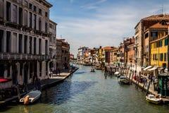 Sikt av den Venedig staden, Italien Arkivbilder