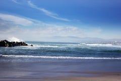 Sikt av den Venedig stranden Kalifornien stormiga waves för hav härlig se Royaltyfria Foton