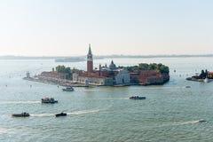 Sikt av den Venetian ön från över Arkivbilder