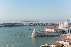 Sikt av den Venetian ön från över Arkivfoton
