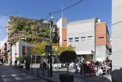 Sikt av den vertikala trädgården av sex golv i San Vicente del Ras Royaltyfria Foton