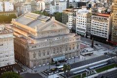 Sikt av den viktigaste teatern i Buenos Aires, Argentina, 18th av Februari av 2017 Royaltyfria Bilder