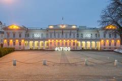 Sikt av den Vilnius slotten Royaltyfria Foton