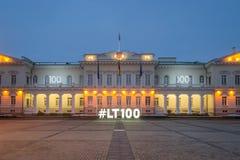 Sikt av den Vilnius slotten Royaltyfri Fotografi