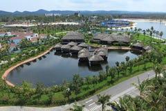 Sikt av den Vinpearl Phu Quoc semesterorten, ett projekt vid den Vingroup korporationen, i den Phu Quoc ön Arkivfoton