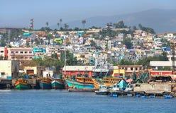 Sikt av den Visakhapatnam staden Arkivfoto
