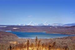Sikt av den Vladivostok staden, Ryssland Arkivbild