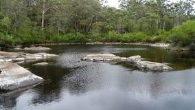 Sikt av den Walpole floden västra Australien i höst Royaltyfria Bilder