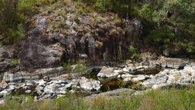 Sikt av den Walpole floden västra Australien i höst Royaltyfri Foto