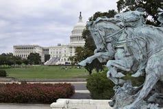 Sikt av den Washington huvudstaden från Ulysses S. Grant Memorial royaltyfri fotografi