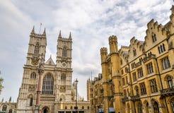 Sikt av den Westminster abbotskloster i London Royaltyfri Bild