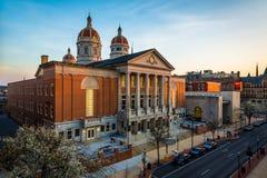 Sikt av den York County domstolsbyggnaden, i York, Pennsylvania arkivfoton