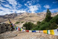 Sikt av den Zanskar dalen Fotografering för Bildbyråer