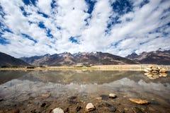 Sikt av den Zanskar dalen Arkivbild