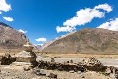 Sikt av den Zanskar dalen Royaltyfria Bilder