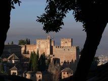 Sikt av det Alhambra komplexet arkivfoto