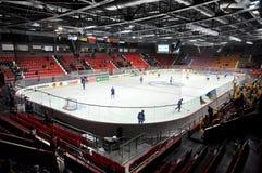 Sikt av det bästa hockeyfältet Royaltyfria Bilder